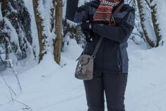 Xenia beim Winterwandern im Harz