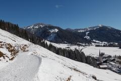 Winterlandschaft in Balderschwang im Allgäu
