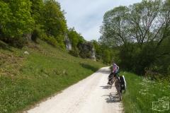 Radtour duchs Altmühltal bei Solnhofen