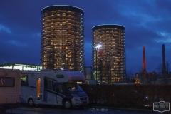 Stellplatz in der Autostadt Wolfsburg