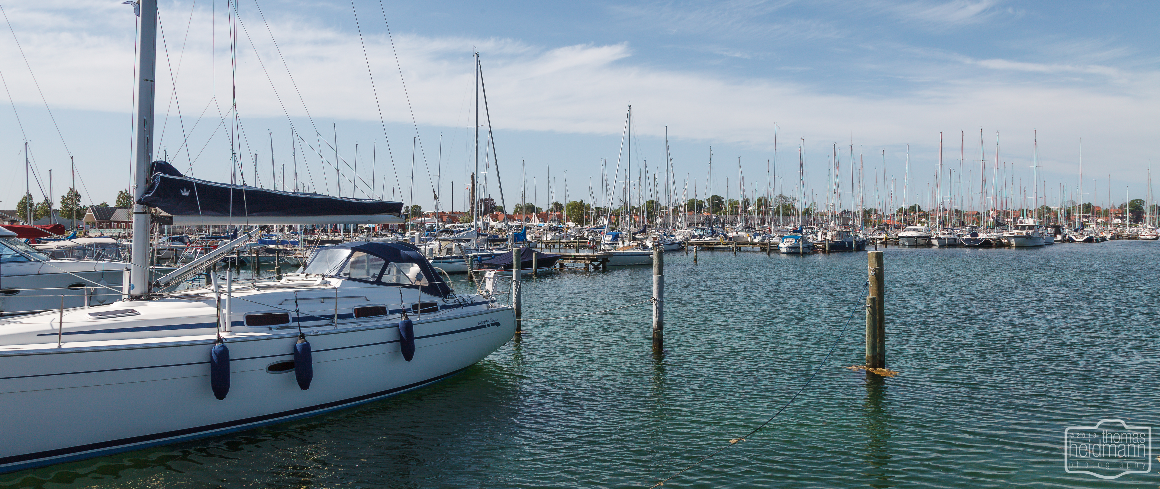 Marina von Kerteminde auf der Insel Fyn in der Nähe von Odense
