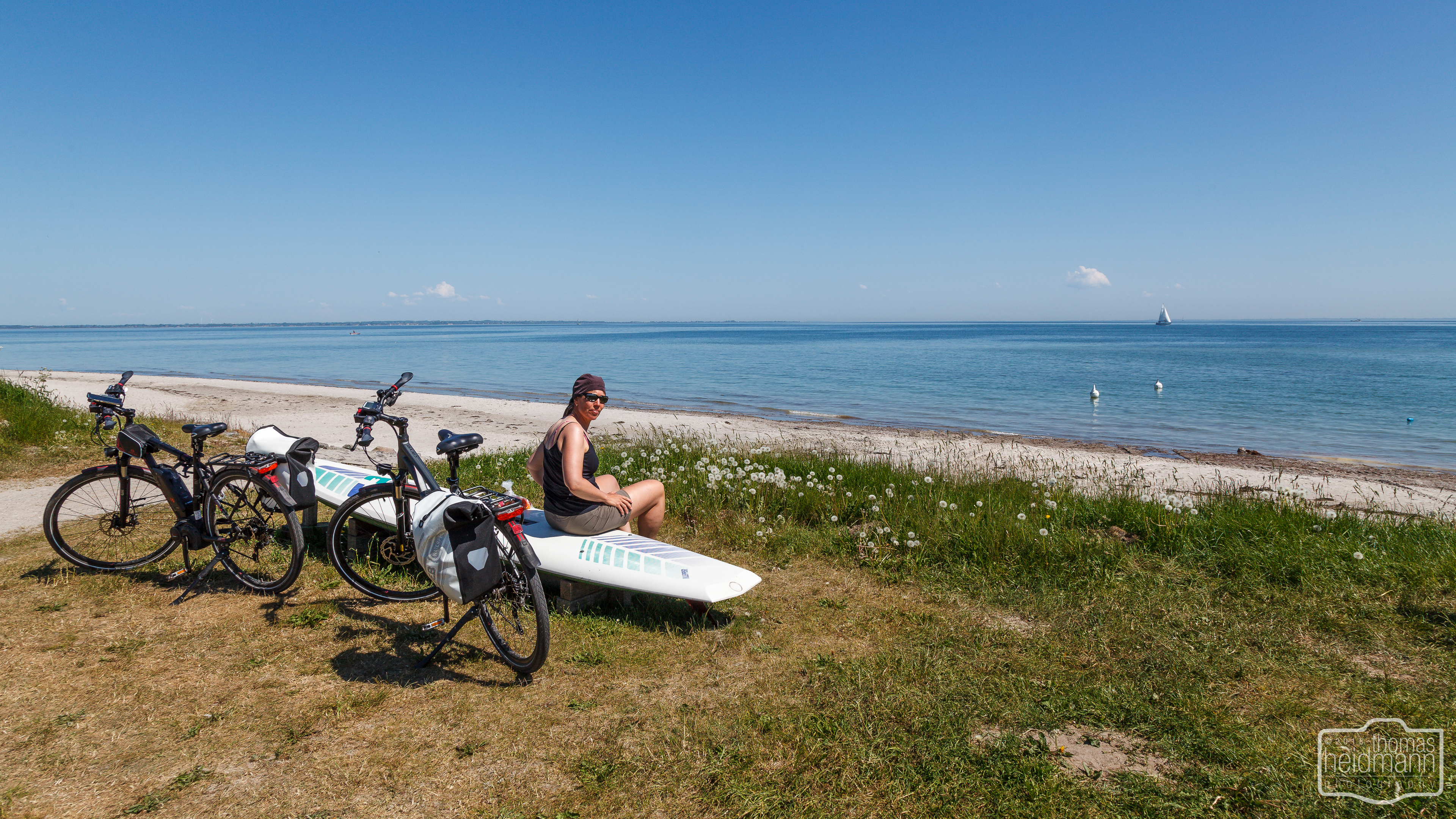 Radttour durch Schleswig-Holstein bei Maasholm an der Ostsee
