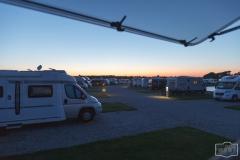 Abendstimmung auf dem Stellplatz Rømø-Oasen