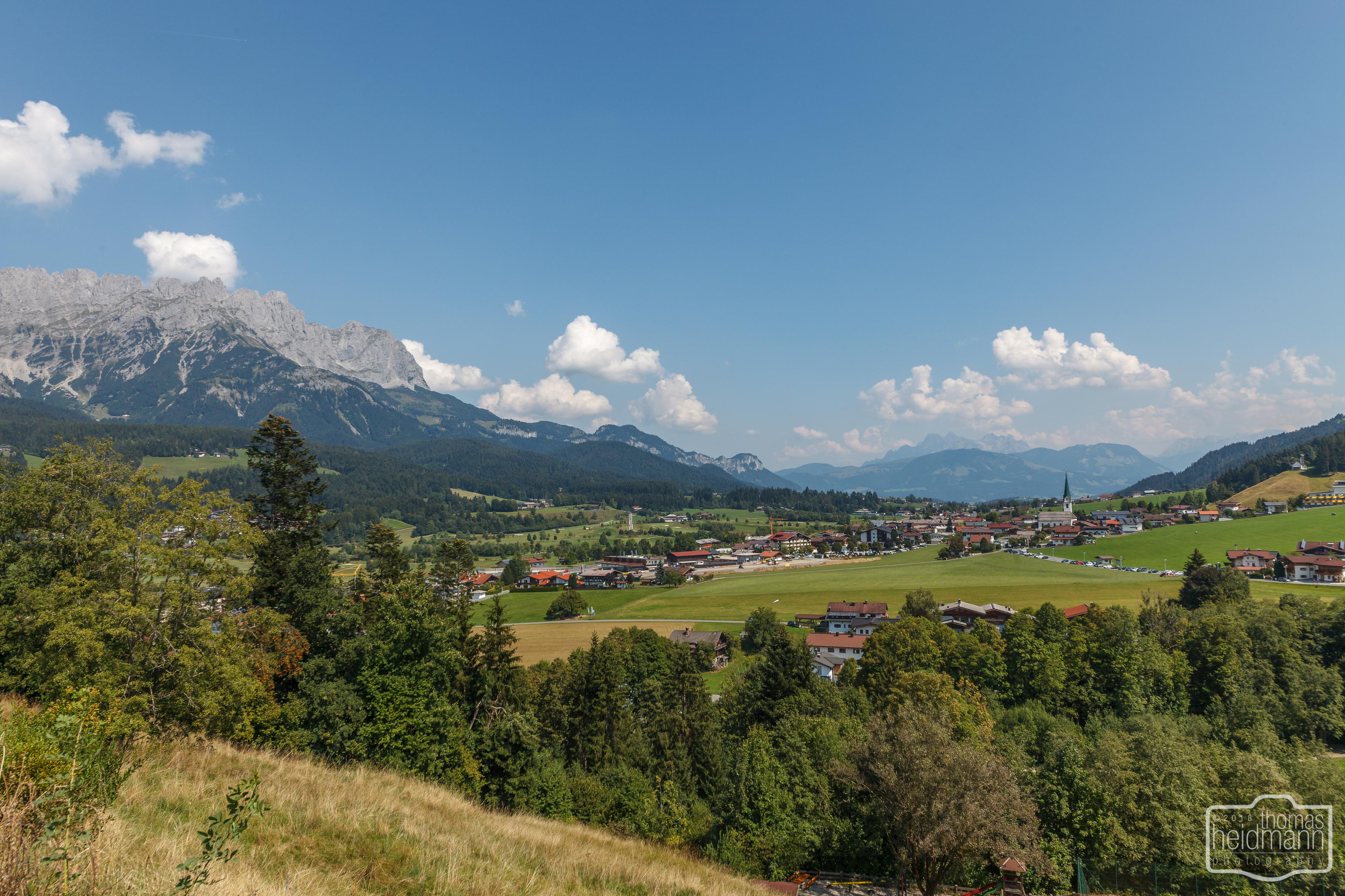 Radtour zum Bergdoktor in Söll, Ellmau und Going - Blick auf Ellmau
