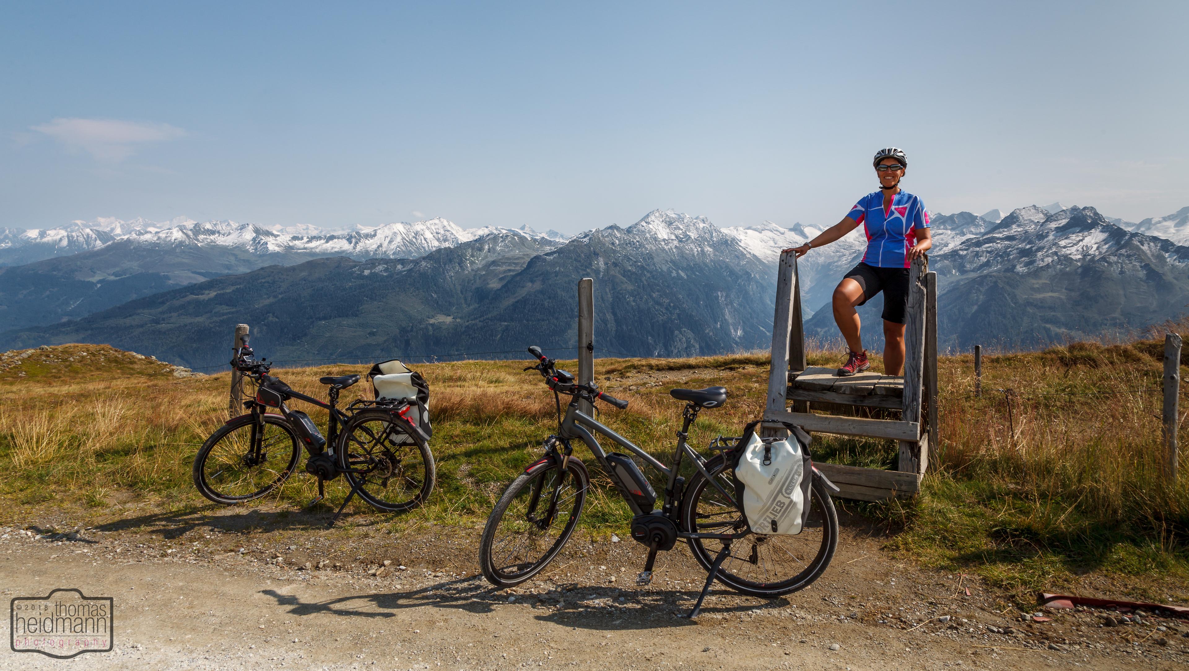 Radtour hinauf zum Wildkogel - Heldenfoto