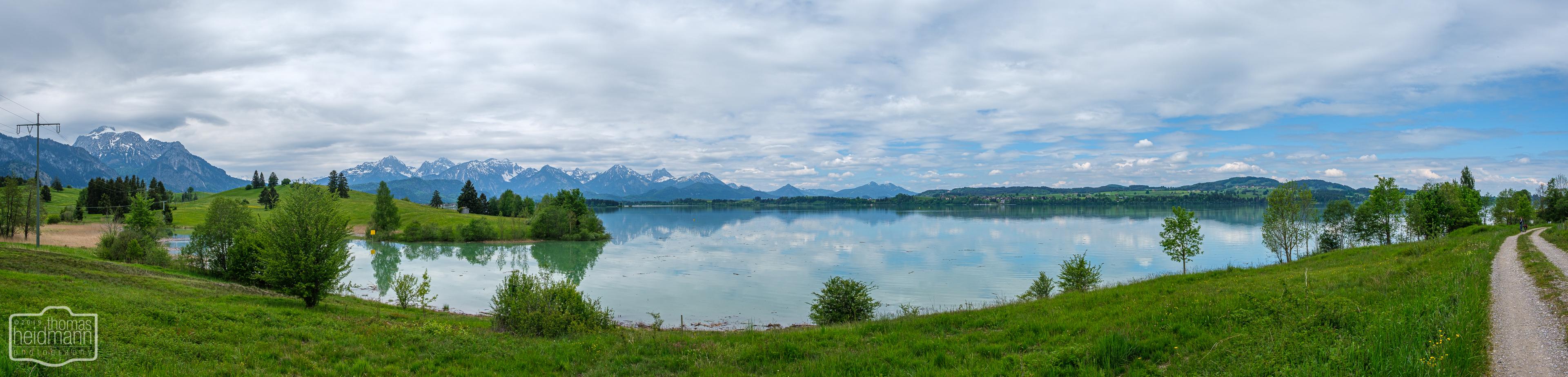 Radtour durchs Allgäu nach Füssen - Allgäuer Alpenpanorama
