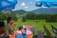 Wanderung durch die Breitachklamm - Kleine Rast in der Alpe Dornach