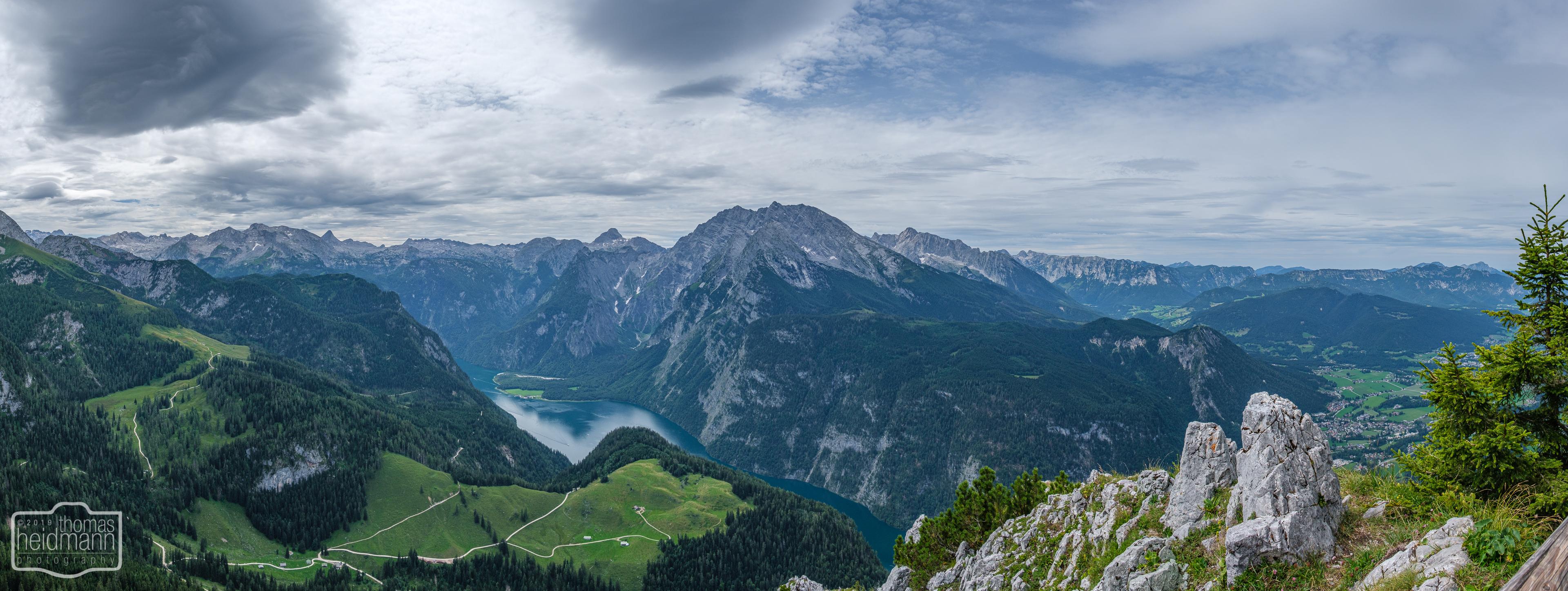 Wanderung zum Jenner-Gipfel - Panorama Königssee