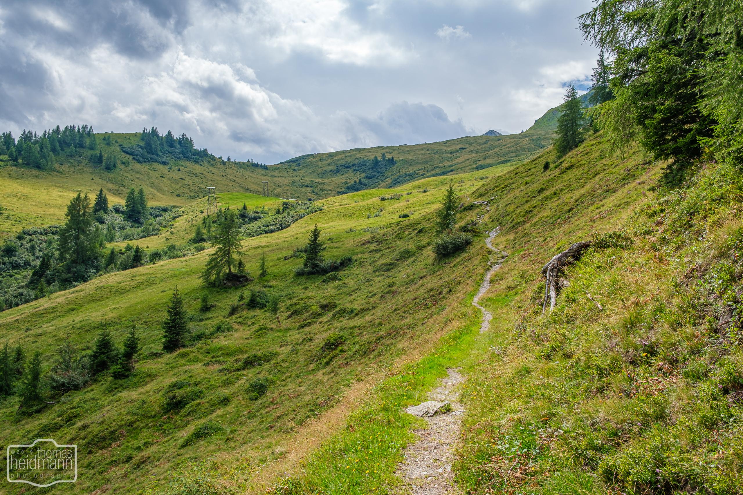 Wanderung zur Hirschgrubenalm und Modereggalm - Der Wanderweg