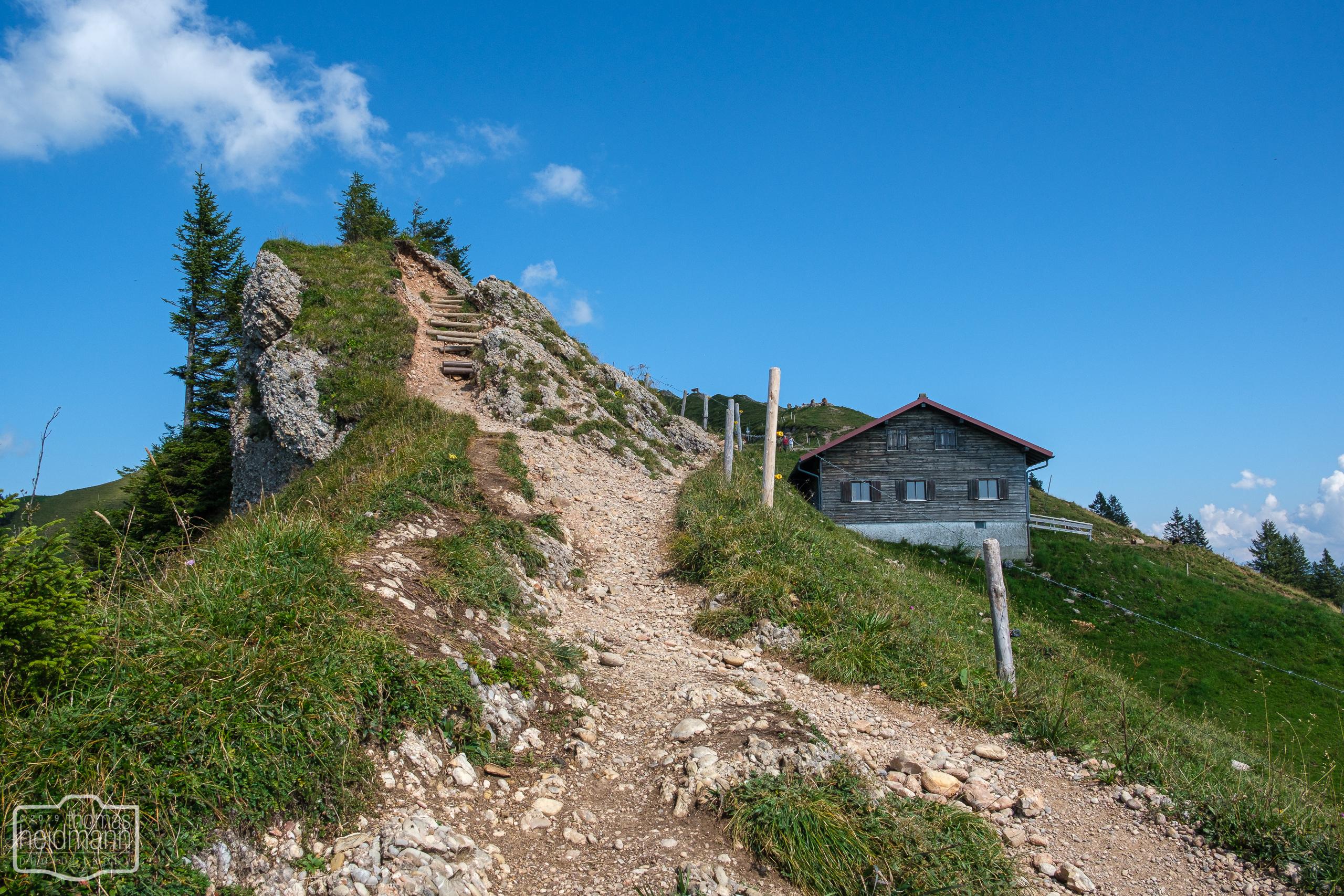 Wanderung auf dem Grat der Nagelfluhkette - Der Letzte Anstieg ist immer der schwerste