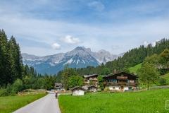 Radtour durchs Bergdoktorland - Blick auf den Wilden Kaiser