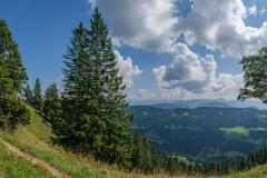 Wanderung auf dem Grat der Nagelfluhkette - Blick ins Tal