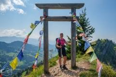 Wanderung auf dem Grat der Nagelfluhkette - Heldenfoto am Gipfel