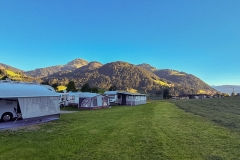 Blick auf die Hohe Salve vom Campinglatz beim Franzlbauer in Söll