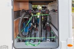 RadFazz Fahrradhalter im Dethleffs-Alpa-Kofferraum verbaut