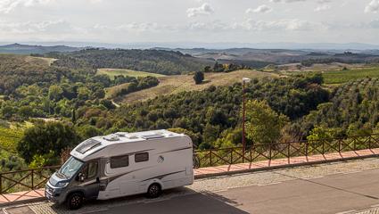 Ausblick ins Tal in Trequanda