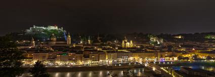 Blick vom Kapuzinerkloster auf die Salzburger Altstadt.